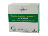 Acido Acetilsalicilico E Vitamina C Angelini - 20 Compresse Effervescenti - 400 Mg + 240 Mg