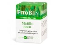 Fitoben Mirtillo Rosso Integratore Estratti Vegetali 50 Capsule
