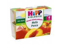 Hipp Biologico Merenda Di Frutta Mela E Pesca 4x100g