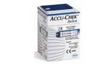 Accu-chek Linea Controllo Glicemia Aviva 25 Strisce Rilevatrici Scadenza Maggio 2020