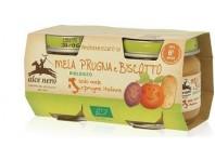 Alce Nero Omogenizzato Mela Prugne E Biscotto 2x80 G