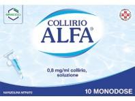 Collirio Alfa Monodose 0,8 Mg/ml Nafazolina Decongestionante 10 Flaconcini