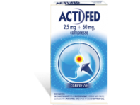 Actifed 2,5 Mg + 60 Mg Pseudoefedrina Cloridrato Decongestionante 12 Compresse