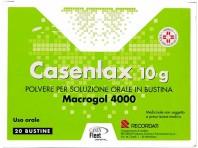 Casenlax - Macrogol 4000 Lassativo - Polvere Per Soluzione Orale - 20 Bustine