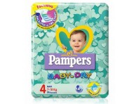 Pampers Baby Dry Taglia 4 Maxi 7-18kg 19 Pannolini