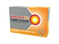 Nurofenkid Febbre E Dolore - Ibuprofene 100 Mg - 24 Capsule Molli Masticabili