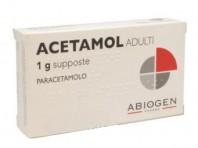 Acetamol Adulti 1 G - 10 Supposte