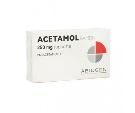 Acetamol 250 mg Bambini Paracetamolo 10 Supposte