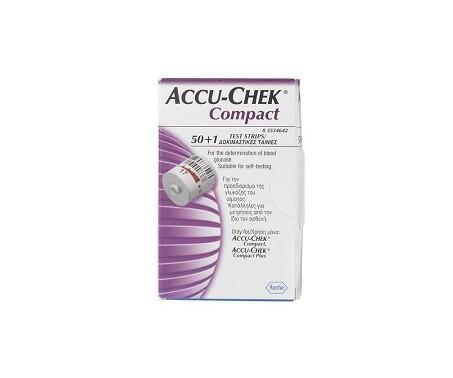 Accu-Chek Compact Strisce Reattive Glicemia 50+1 Pezzi