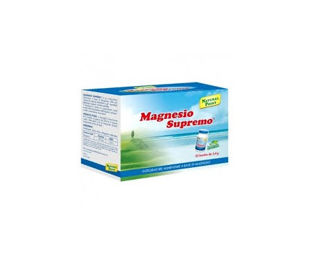 Magnesio Supremo Natural Point - Integratore per stanchezza e stress - 32 bustine da 2,4 g