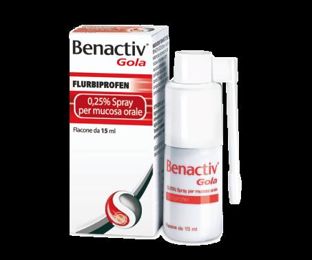 Benactiv Gola Spray - 2,5 mg/ml Flurbiprofene 15 mL
