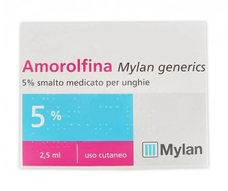 Amorolfina Mylan Generics - 5% Smalto medicato per unghie - 2,5 ml