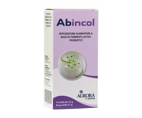Abincol integratore di fermenti lattici probiotici 14 stick orosolubili